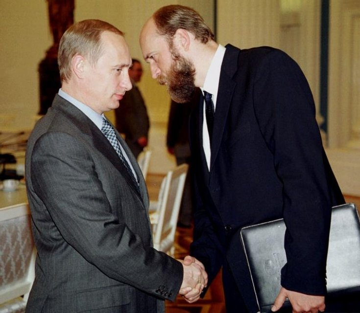 Владимир Путин и Сергей Пугачев