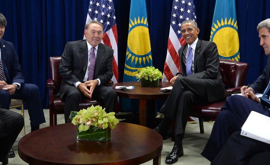 назарбаев и обама