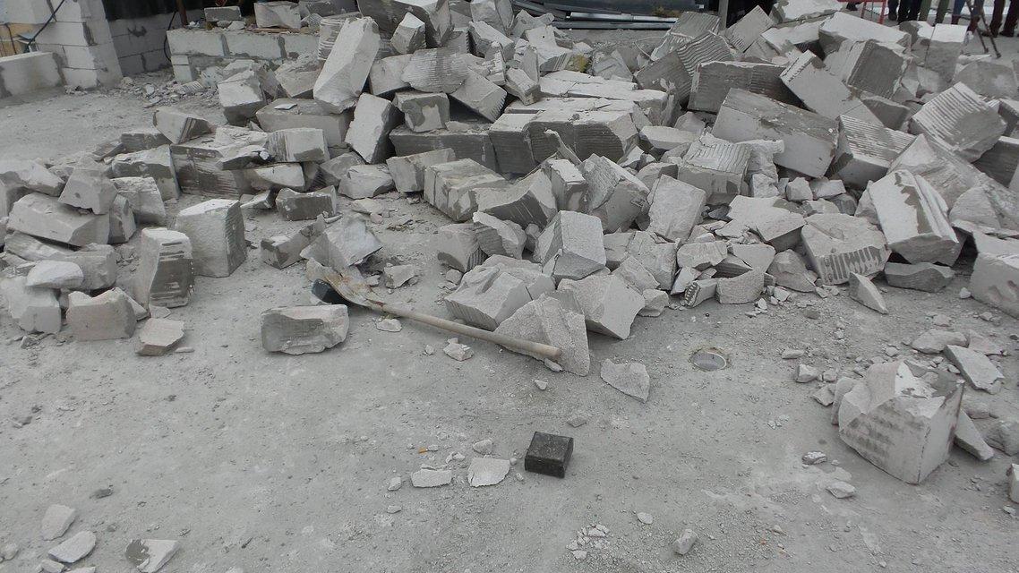 В Киеве начат снос двух этажей, пристроенных над Домом профсоюзов  - фото 22994