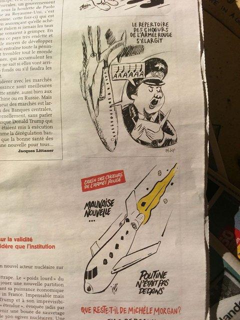 Charlie Hebdo пошутили над катастрофой российского Ту-154  - фото 28212