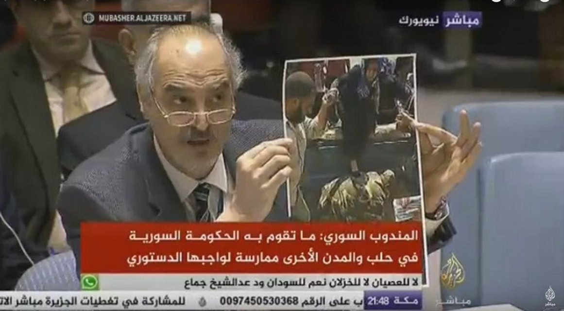 Новая ложь в ООН: Посол Сирии в Совбезе выдавал фото из Ирака за Алеппо - фото 26408
