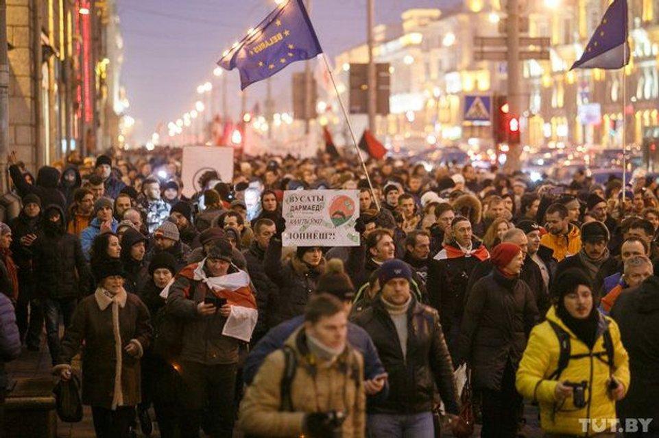 В Беларуси прошел протест против «тунеядства» - фото 34875