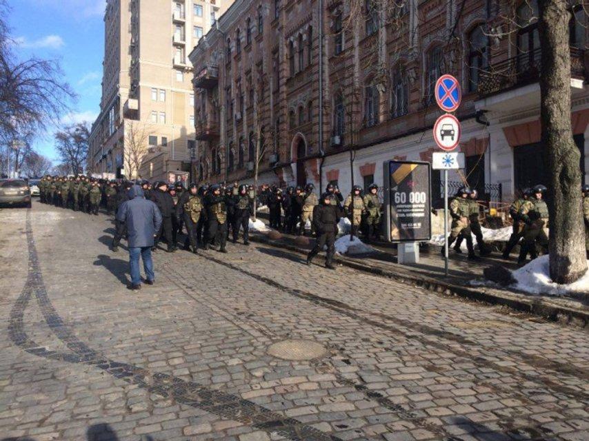 """ОУН и добробаты провели на Майдане """"вече"""" в поддержку блокады ОРДЛО - фото 35057"""