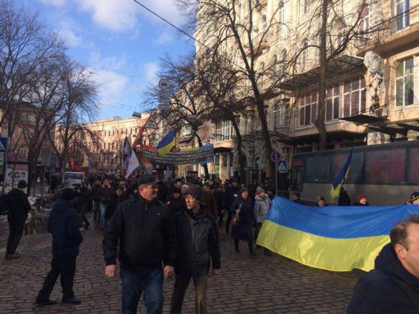 """ОУН и добробаты провели на Майдане """"вече"""" в поддержку блокады ОРДЛО - фото 35058"""