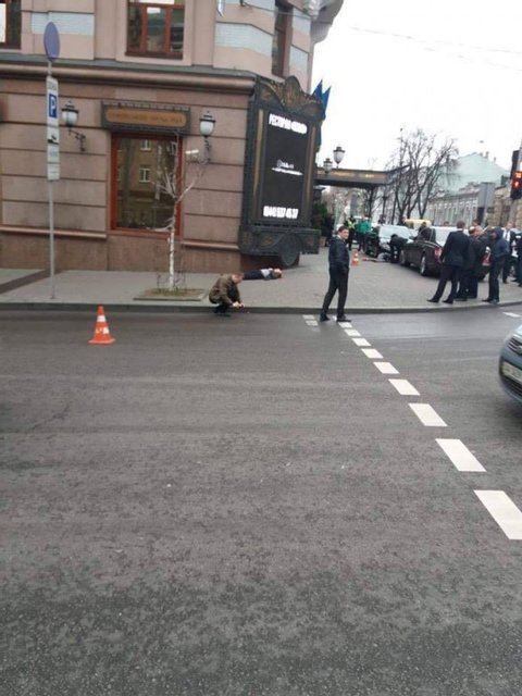 В центре Киева расстреляли двух людей возле отеля - фото 39467