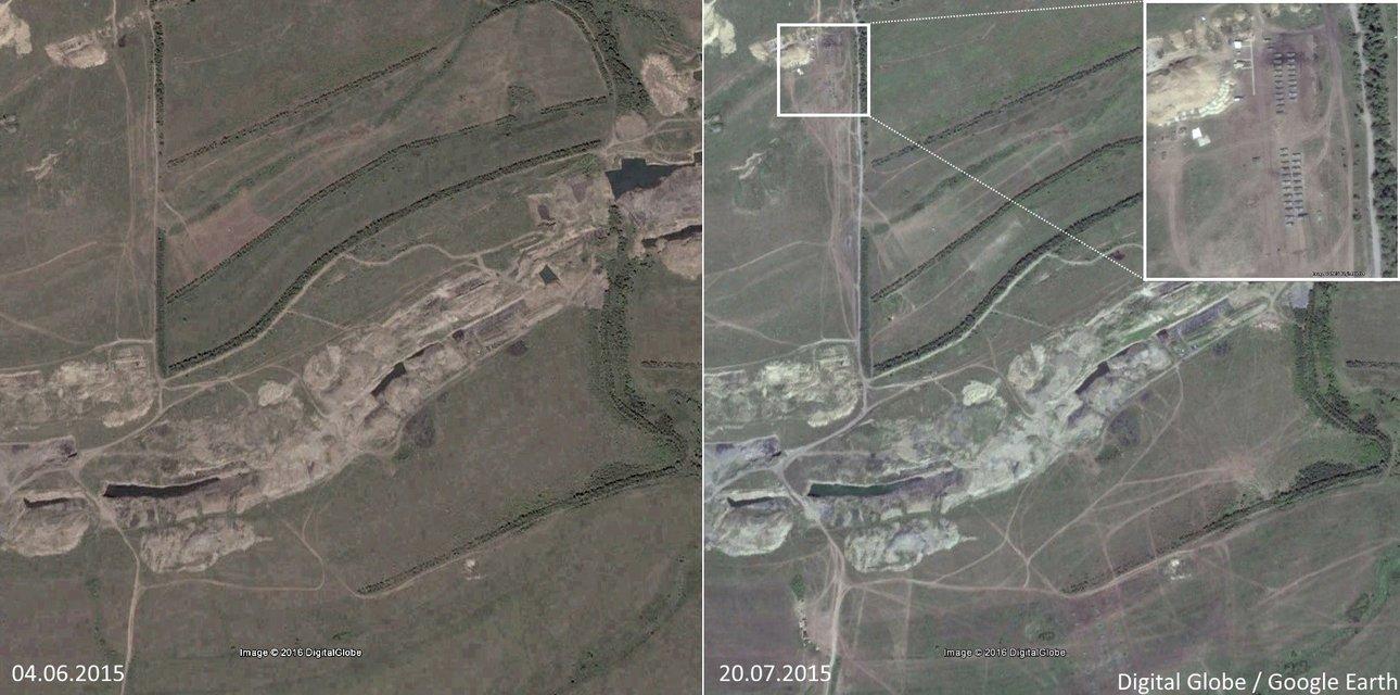 """Bellingcat обнаружили базу с танками """"ЛНР"""" в зоне отвода вооружения - фото 38792"""