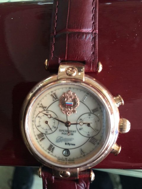 У подозреваемого в хищении директора ГП нашли золотые часы от Путина - фото 37311