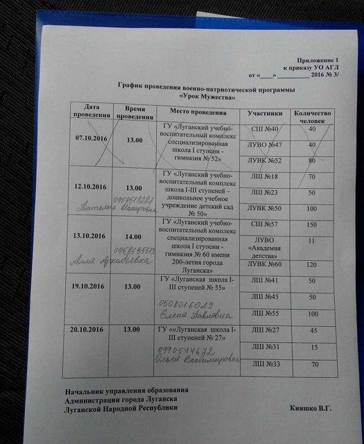 """Оккупанты приказывают учителям """"ЛНР"""" и """"ДНР"""" промывать мозги детям - фото 38018"""