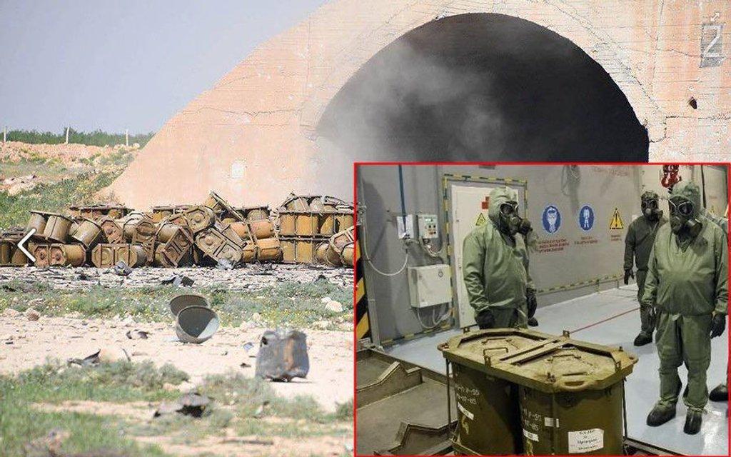 Пропагандисты РФ случайно показали российское химоружие на обстрелянной авиабазе в Сирии - фото 41678