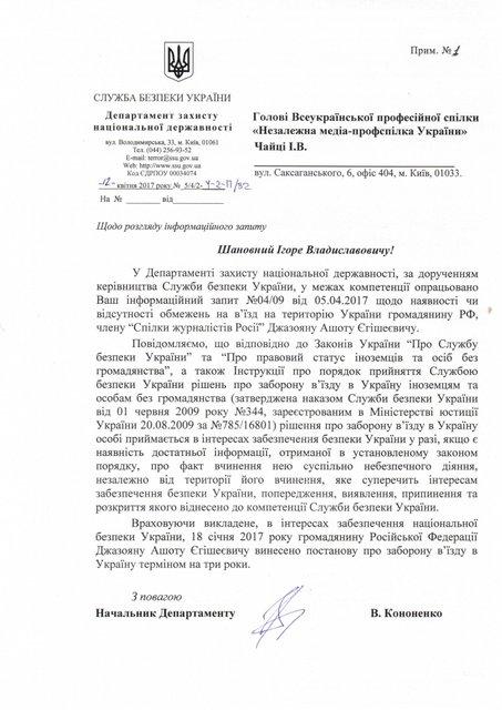 СБУ запретила въезд российскому чиновнику за визиты в оккупированный Крым - фото 43158