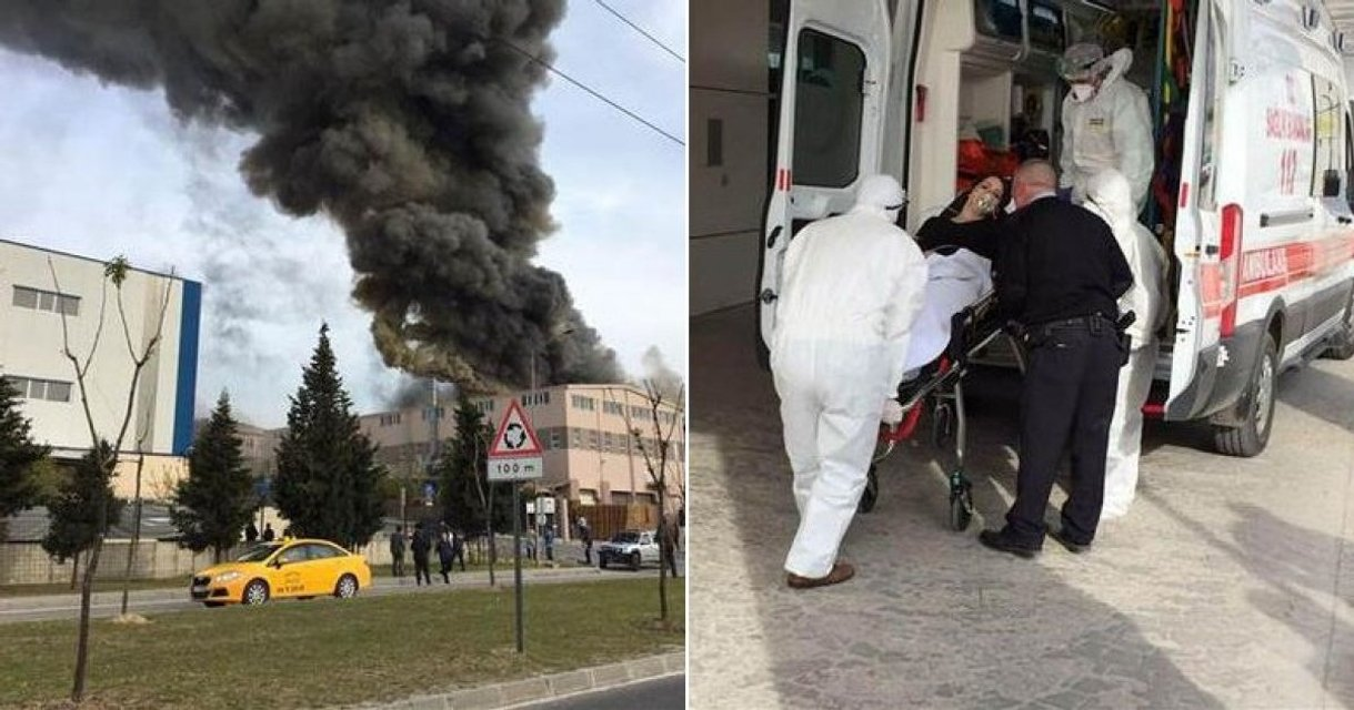 Мощный взрыв. На турецкой текстильной фабрике произошла утечка ядовитых веществ - фото 42163