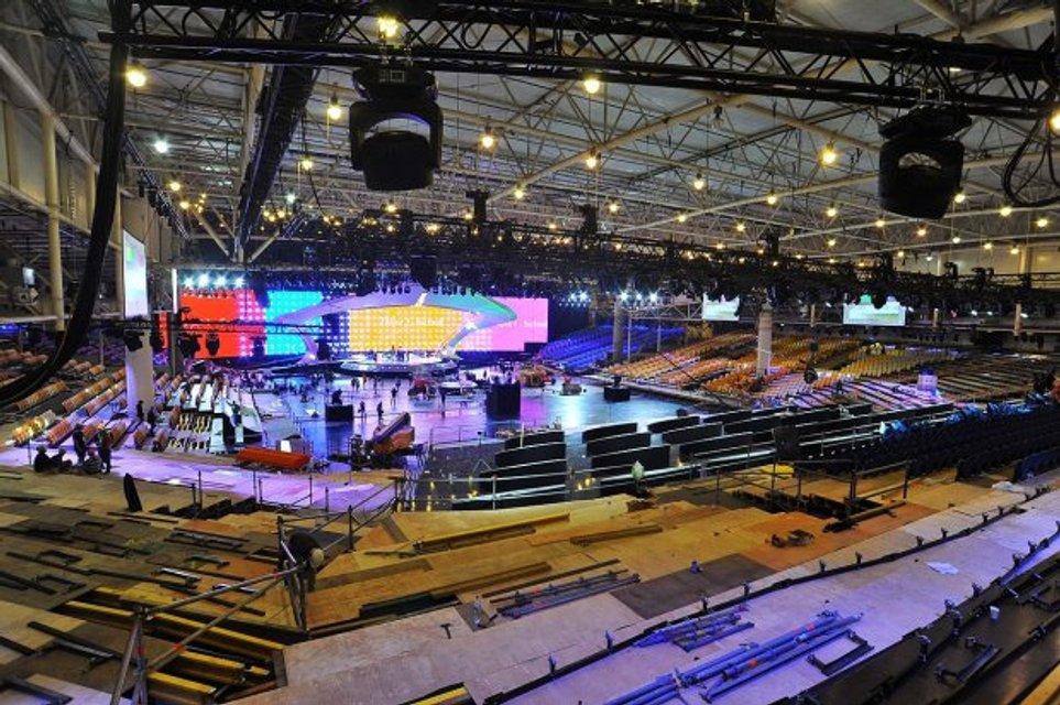 В Киеве презентовали главную сцену Евровидения-2017: появились впечатляющие фото - фото 43128