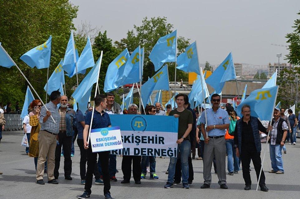 Демонстрация в Анкаре в поддержку крымских татар - фото 47124