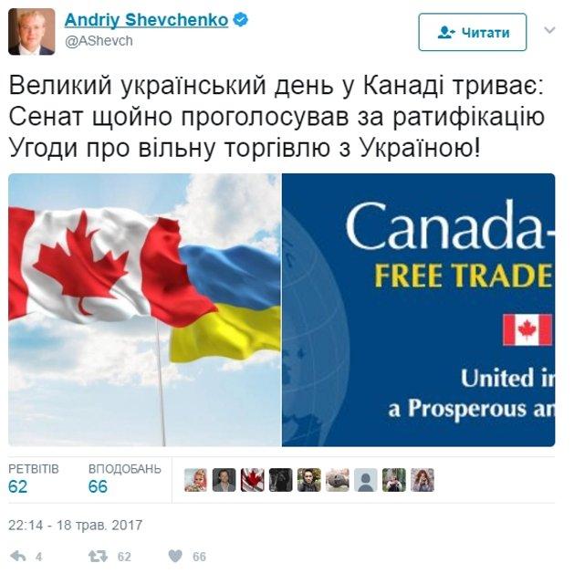 Зона свободной торговли. В Канаде приняли важное решение для Украины - фото 47217