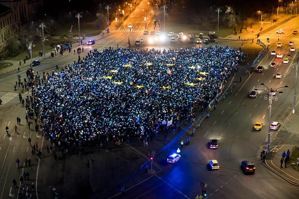 Громадяни Румунію проті корумпованої влади - фото 45320