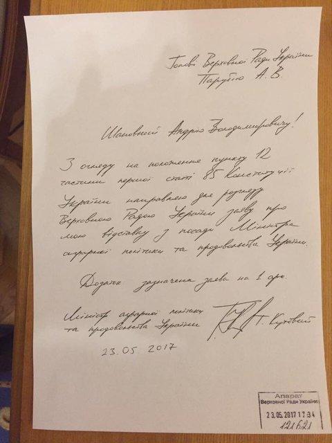Министр аграрной политики подал в отставку - фото 47916