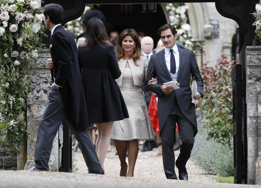 Роджер Федерер с супругой - фото 47869