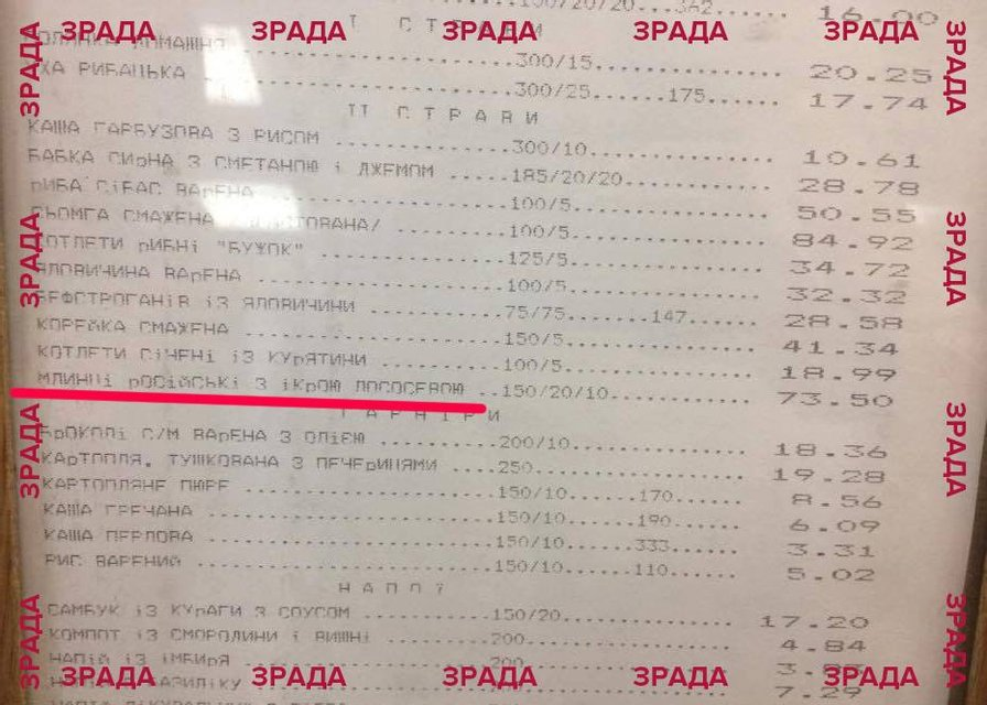 Зрада в Раде. В соцсетях высмеяли меню парламента - фото 46887