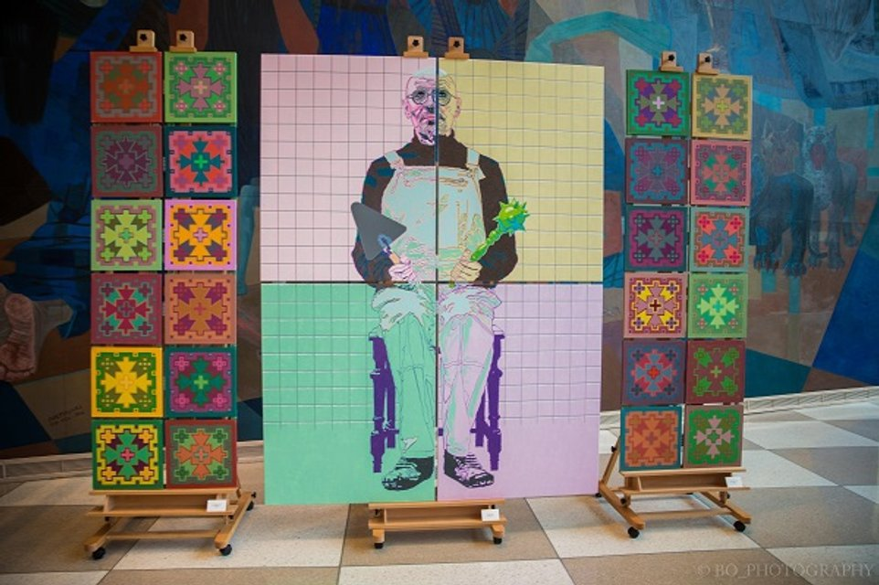 Современные украинские художники прорвались в штаб-квартиру ООН - фото 47362