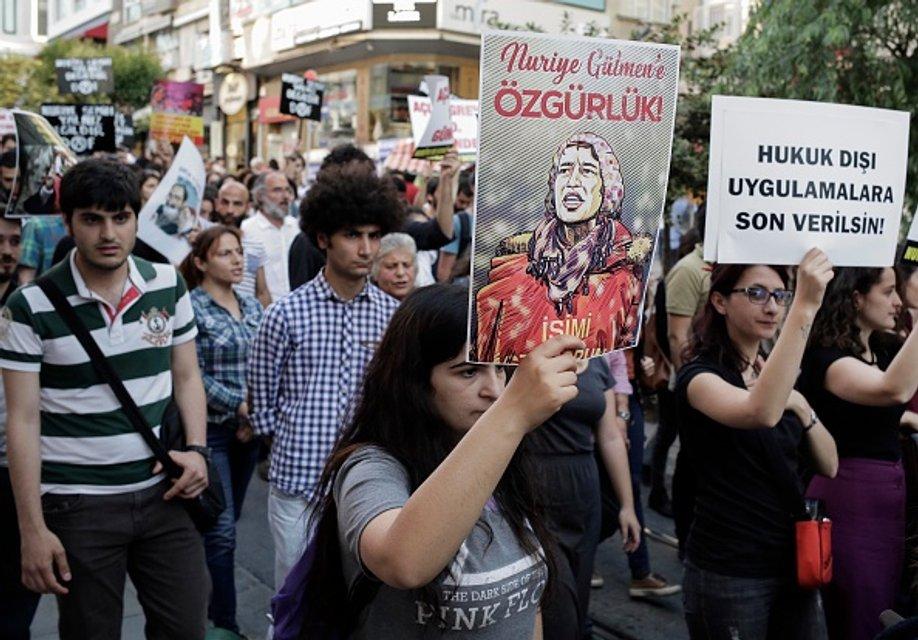 Турецкие учителя протестуют против арестов коллег - фото 54886