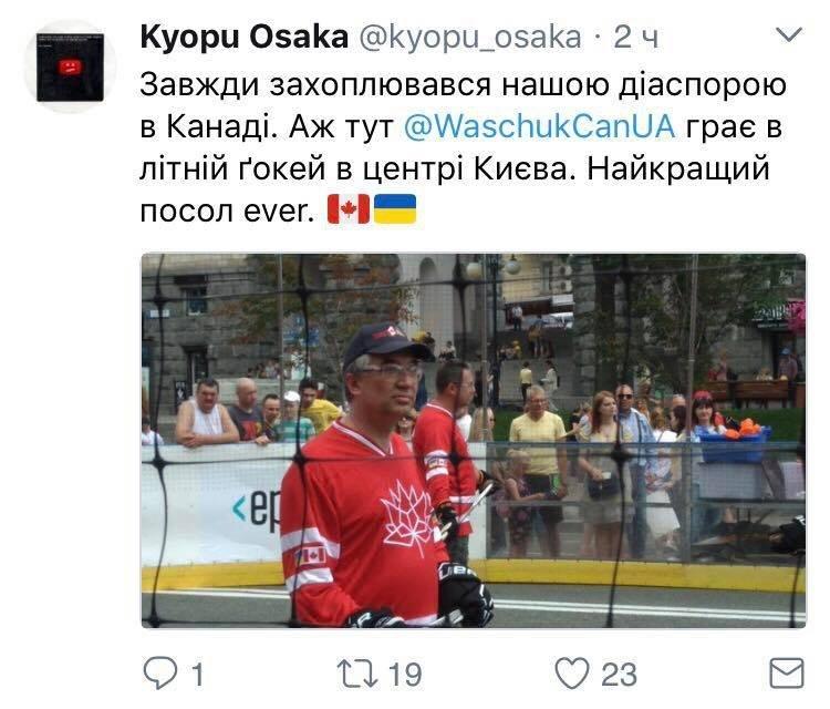 Посол Канады сыграл с Кличко в хоккей - фото 53875