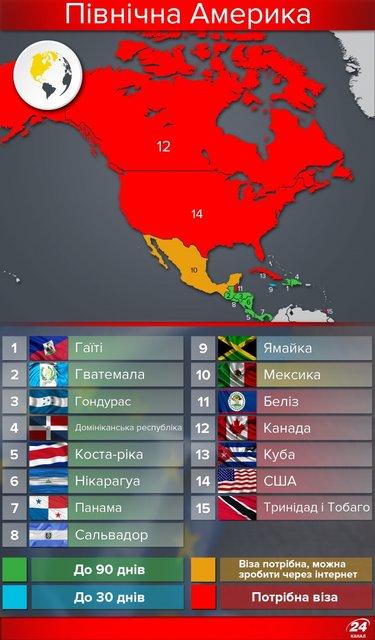 Полезная инфографика. Карта стран мира, куда украинцы могут ездить без виз - фото 50373