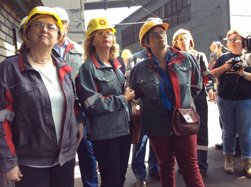 Представители ЕС в Авдеевке на промке - фото 53670