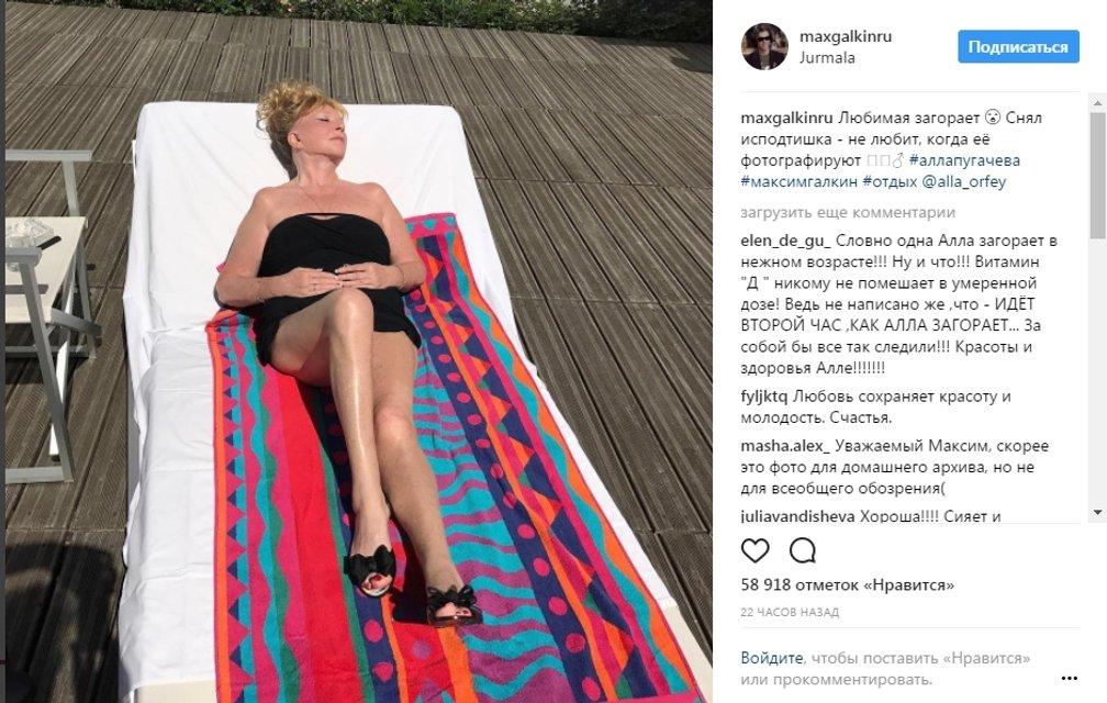 Удивил. Галкин показал фото стройной 68-летней Пугачевой в купальнике - фото 51918