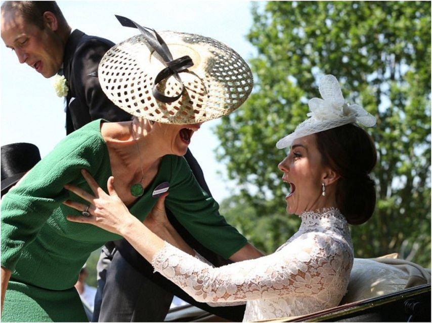 Королевский конфуз: на Кейт Миддлтон свалилась графиня Софи - фото 52842