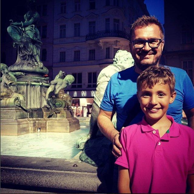 Александр Пономарев похвастал новыми фото с сыном Сашей - фото 60748