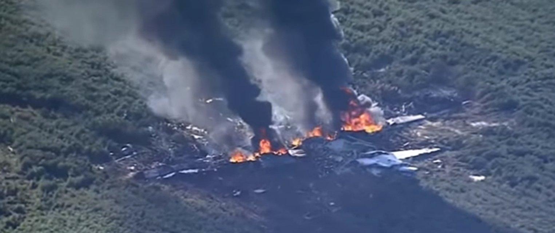 Военный самолет разбился в США - фото 56928