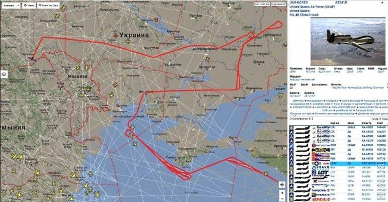 Карта полета разведчика США  - фото 58401