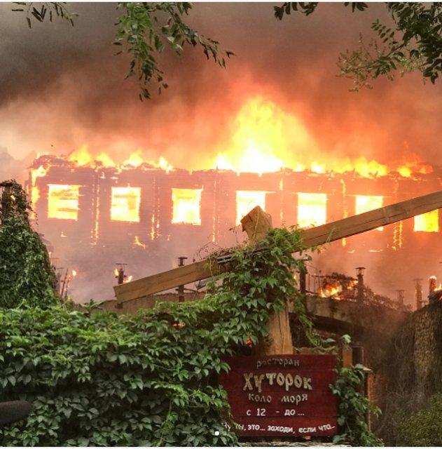 """Пожар в ресторане """"Хуторок"""" в Одессе - фото 60361"""