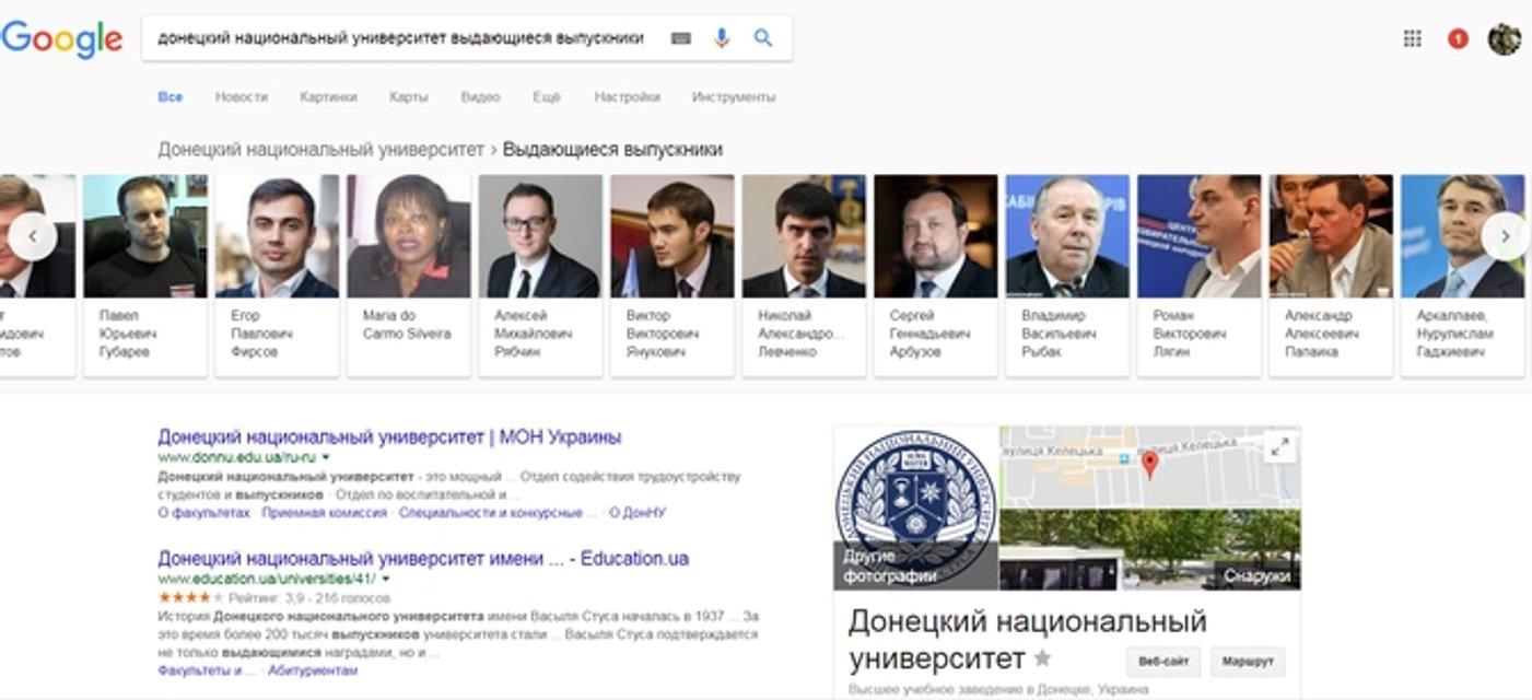 Google записал террористов в список выдающихся выпускников ДонНУ - фото 62029