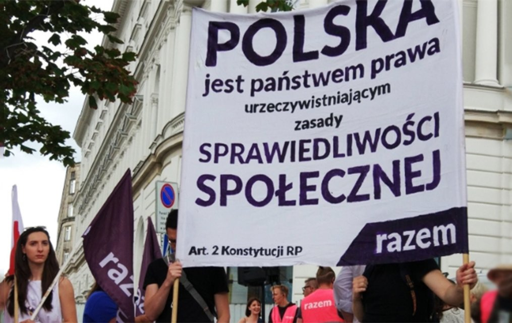 Акция протеста в столице Польши - фото 58226