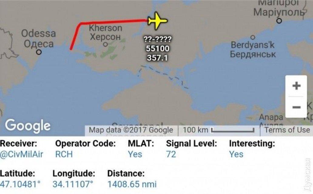 Карта полета разведчика США  - фото 58402
