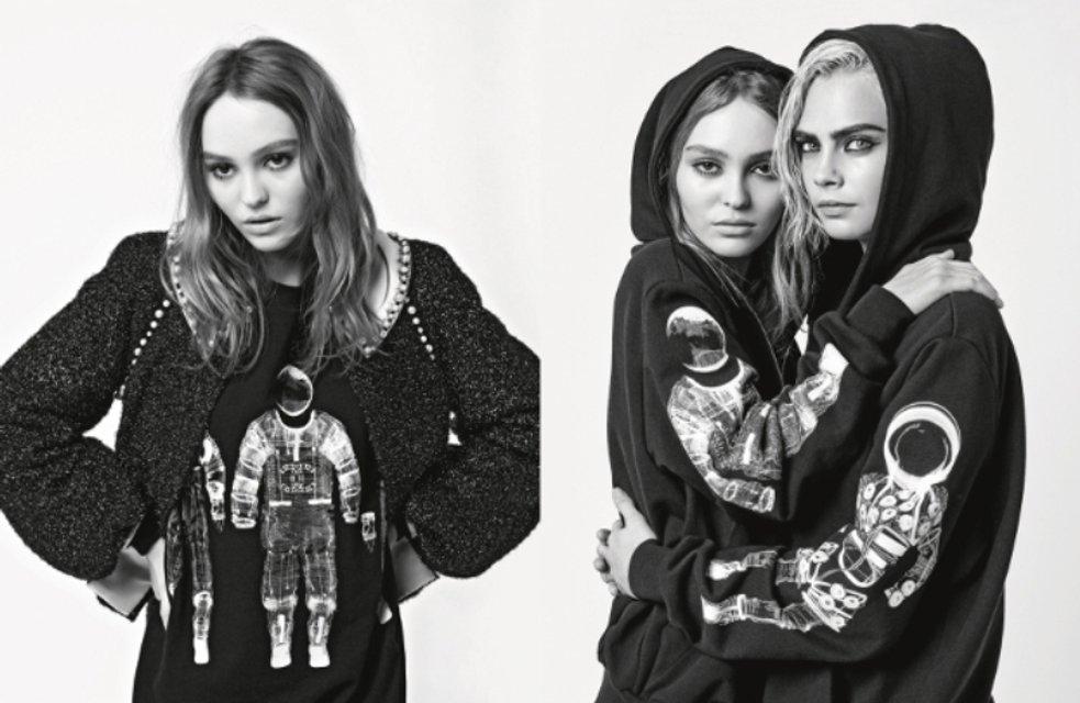 Кара Делевинь и Лили-Роуз Депп снялись в чувственной фотосессии - фото 60464