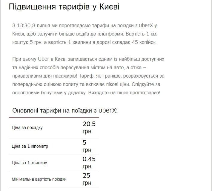 Uber поднял тарифы в Киеве: Как изменились цены - фото 56721