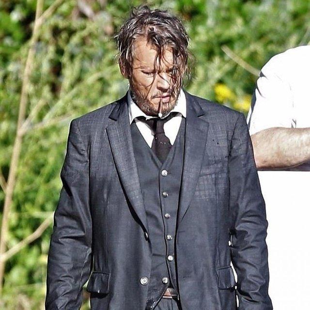 Джонни Депп на съемках фильма Ричард прощается - фото 61010