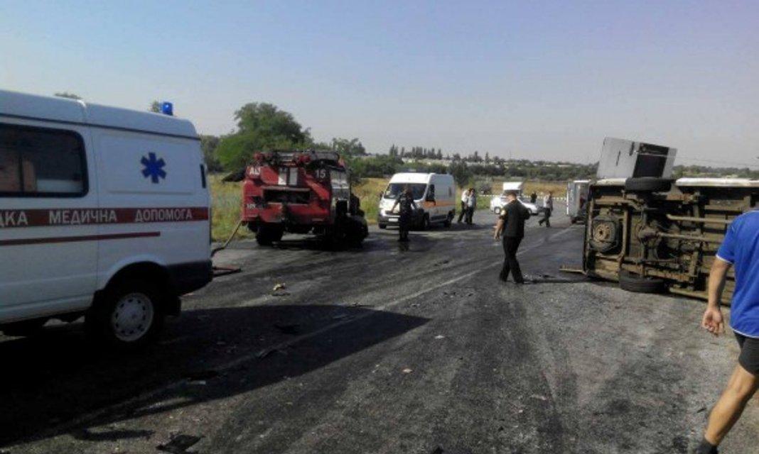 Дорожно-транспортное происшествие в Запорожской области - фото 59864
