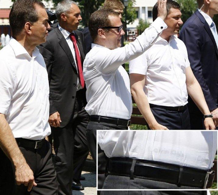 Медведева высмеяли за конфуз с бельем в Краснодаре - фото 61533