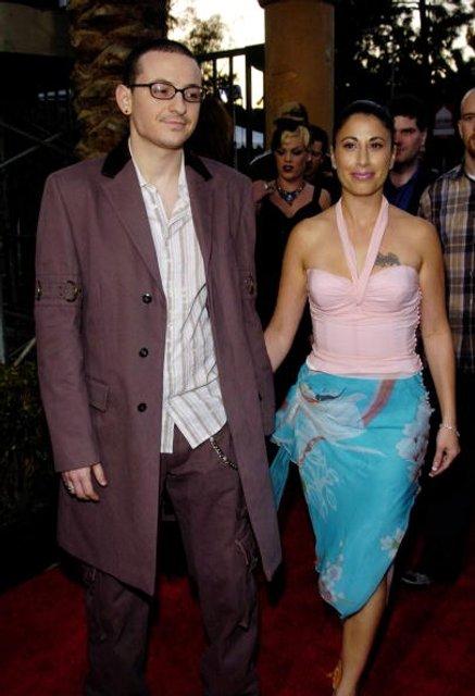 Умер Честер Беннигтон: лидер Linkin Park с первой женой Самантой - фото 59595