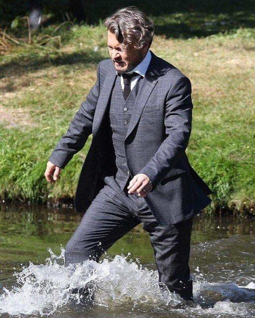 Джонни Депп на съемках фильма Ричард прощается - фото 61009