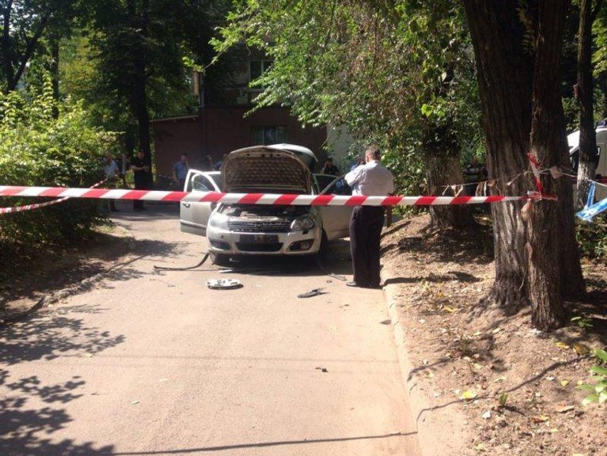 В центре Днепра взорвался автомобиль с водителем - фото 61168