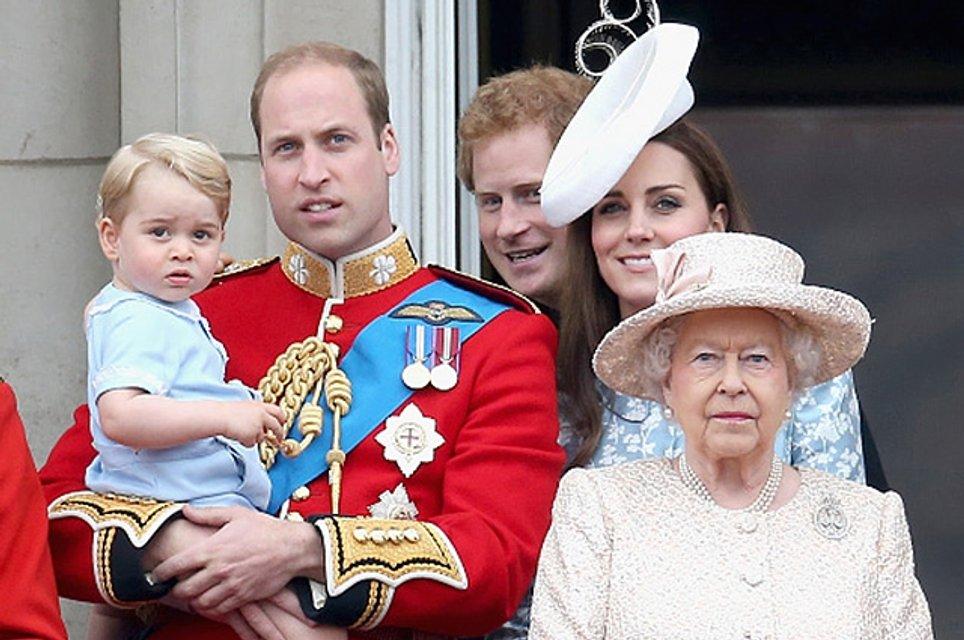 Кейт Миддлтон, принц Уильям и принц Джордж - фото 59873