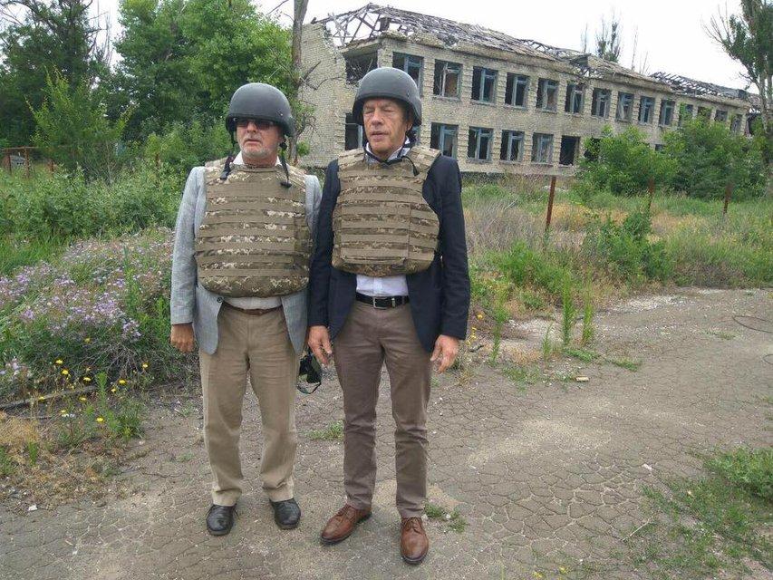 Евродепутаты посетили зону АТО - фото 56534