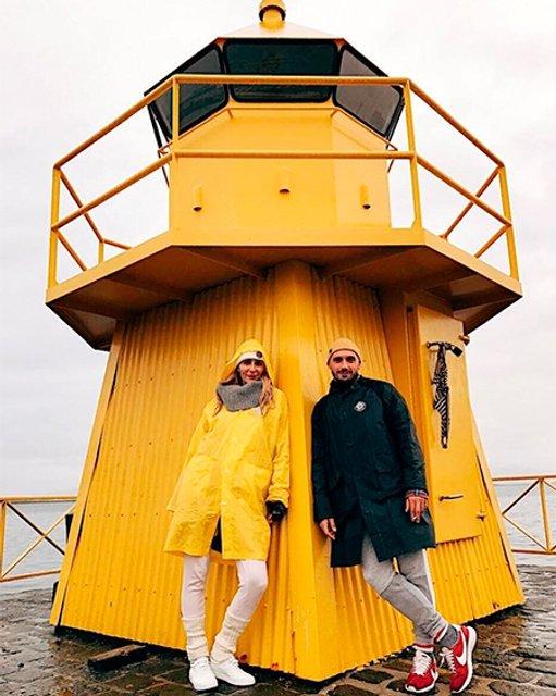 Екатерина Варнава и Константин Мякиньков на отдыхе в Исландии - фото 66057