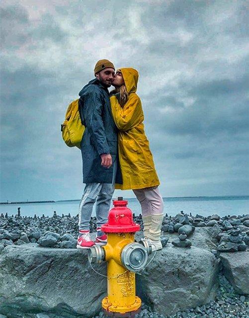 Екатерина Варнава и Константин Мякиньков на отдыхе в Исландии - фото 66056