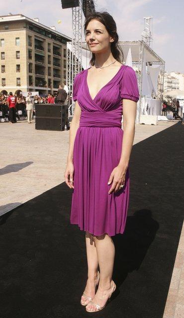 Кэти Холмс поразила фанатов ультракоротким платьем на премьере - фото 67329