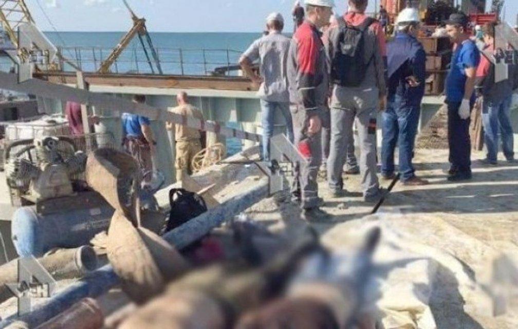 ЧП на строительстве Керченского моста: 18 человек погибло, 34 госпитализированы - фото 69446